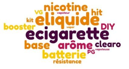 Lexique e-liquide cigarette électronique